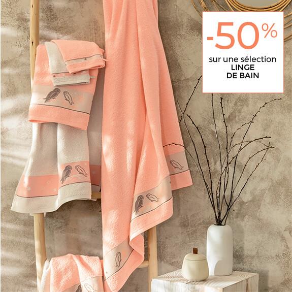 -50% sélection linge de maison