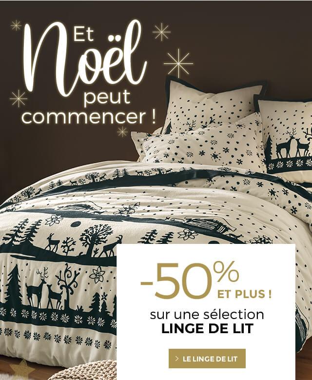 -50% ET PLUS sélection linge de lit