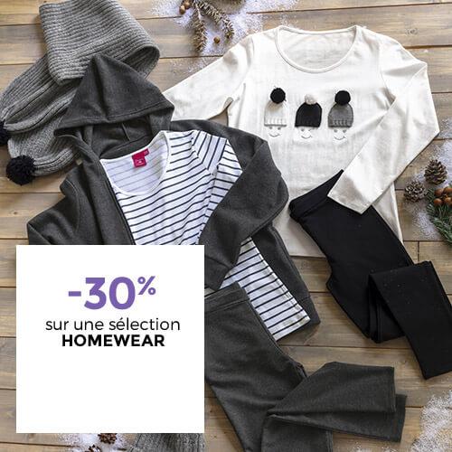 -30% sur une sélection homewear