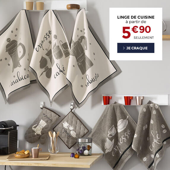 Linge de cuisine à partir de 5€90