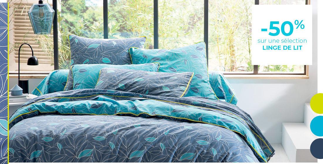 -50% sur une sélection linge de lit