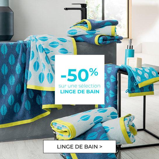 -50% sur une sélection linge de bain