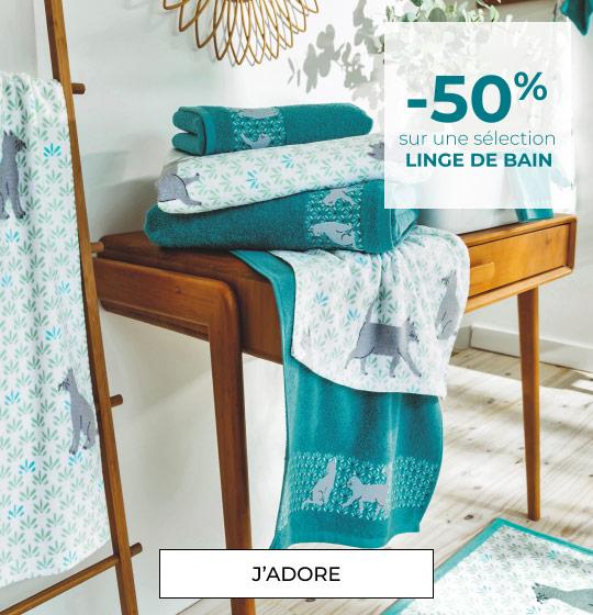 -50% sur sélection Linge de bain