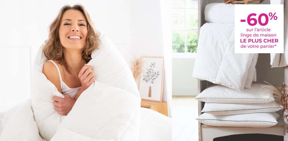 -60% art de linge de maison le plus cher de votre panier
