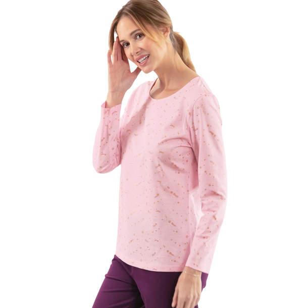 T-shirt rose poudré - Allure chic