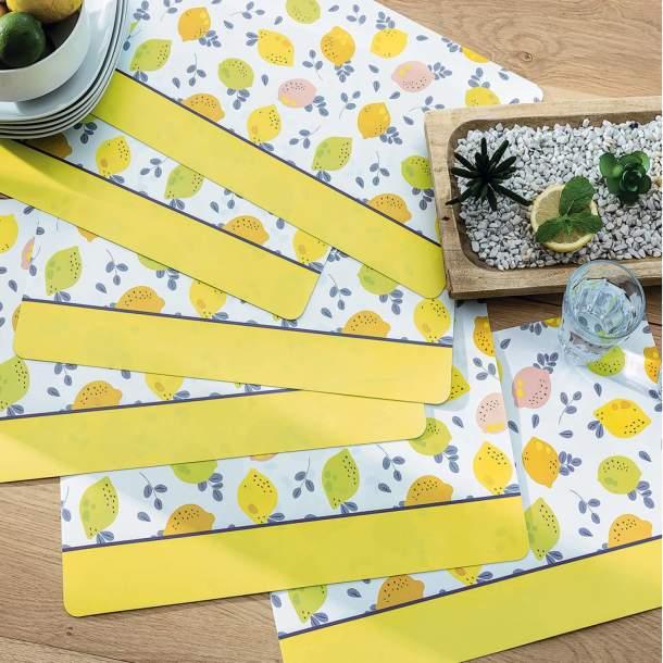 6 Sets de table - Bouquet d\'agrumes