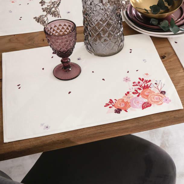 2 Sets de table - Bouquets de Bonheur