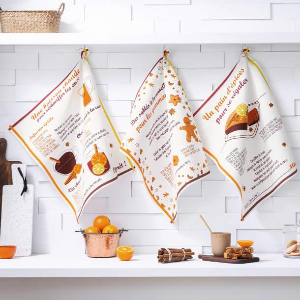 3 Torchons - Cannelle et gourmandise