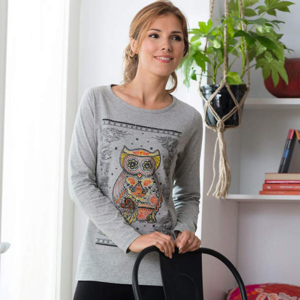 Tee-shirt - Chouette et zen