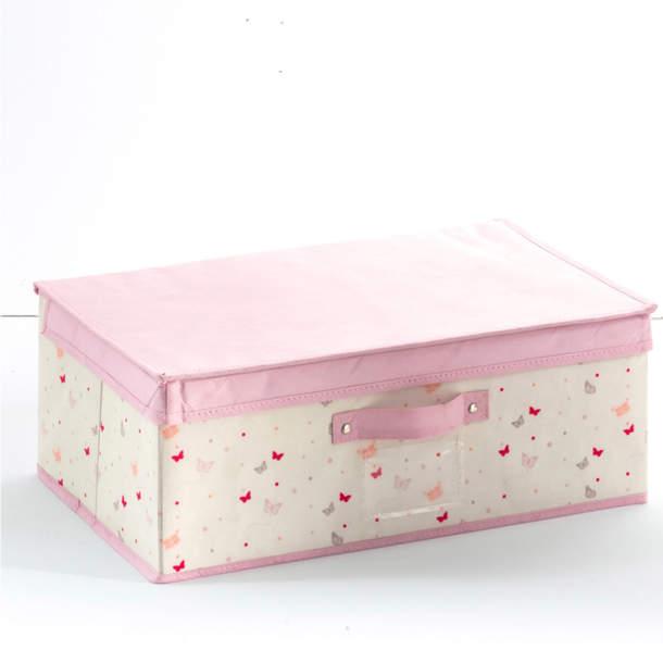 2 boîtes de rangement - Confettis et papillons