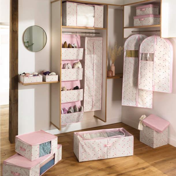 Boîte de rangement - Confettis et papillons