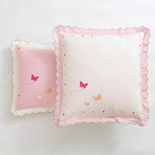 Taie d\'oreiller - Confettis et papillons