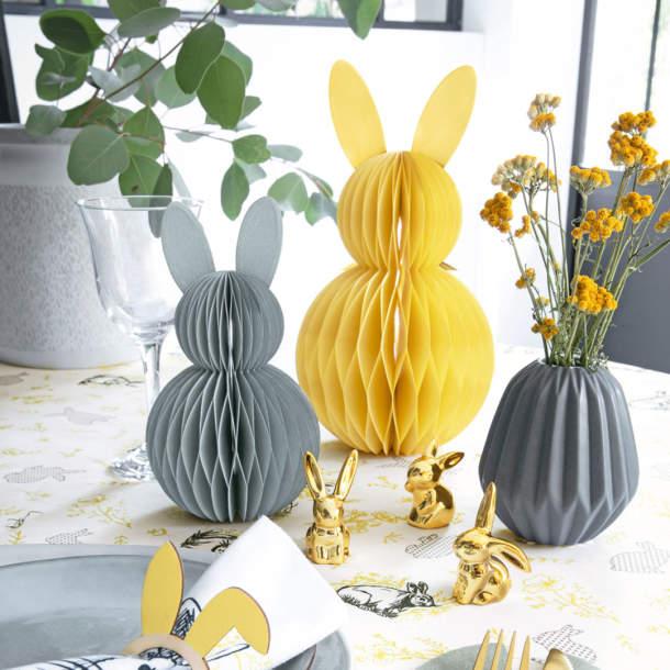 2 lapins en papier - Contes de Printemps