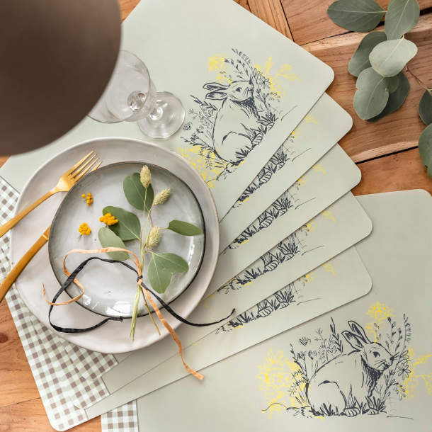 6 Sets de table - Contes de Printemps
