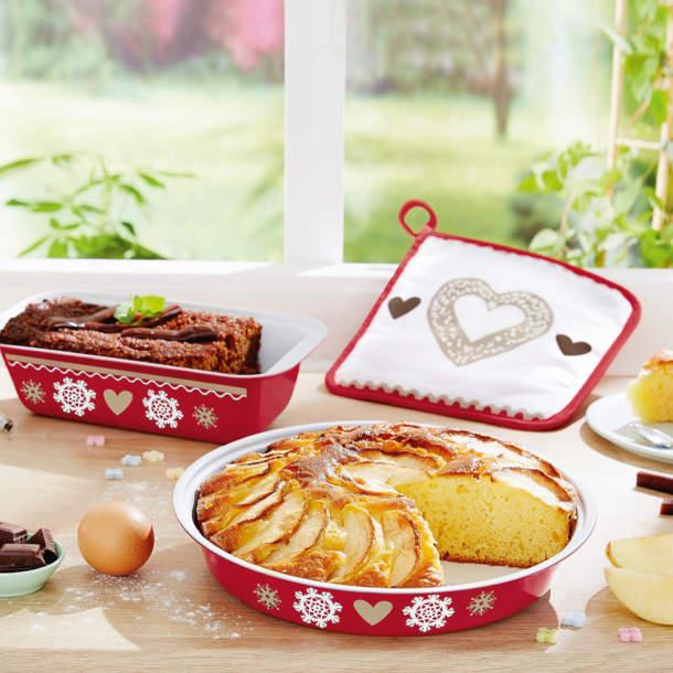 1 plat à gâteau + 1 plat à cake + 1 manique - Coup de coeur