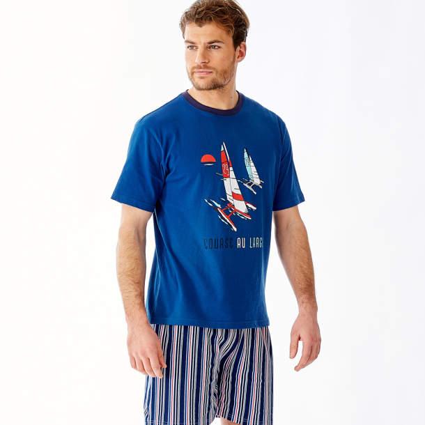 Pyjama court homme - Course en mer