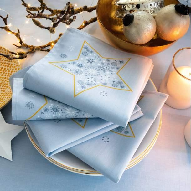 2 Serviettes de table - Dans les étoiles