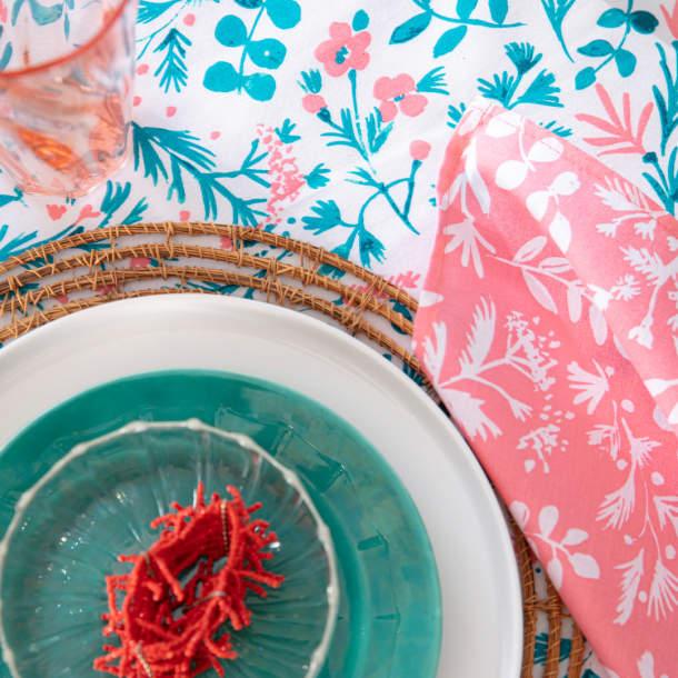 Serviette de table - Douceur grenadine