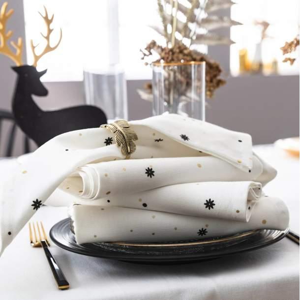 2 Serviettes de table - Eclat d\'or