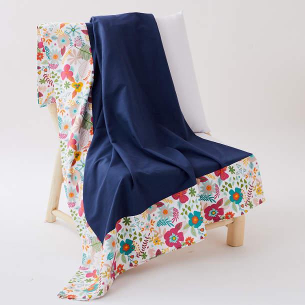 Jeté de fauteuil - Fantaisie folk