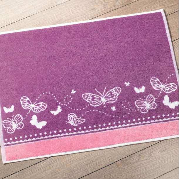 Tapis de bain - Fleur papillon