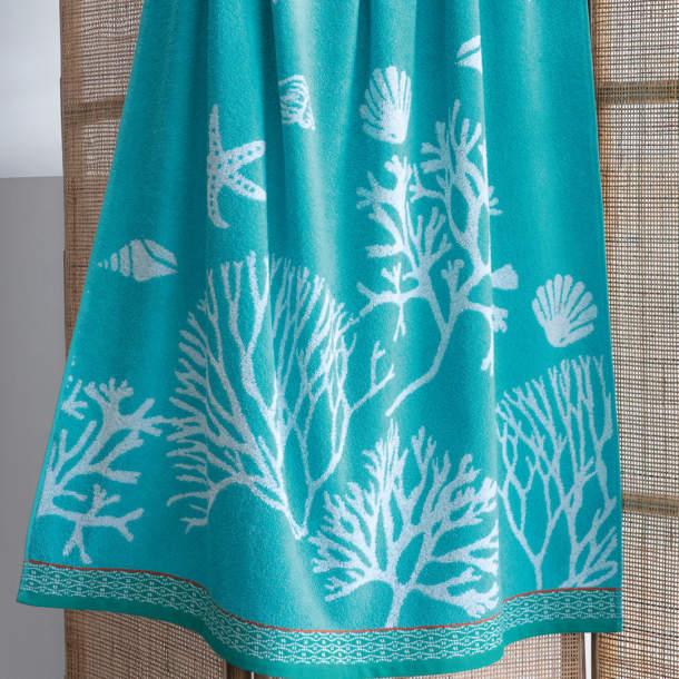 Drap de plage - Fleurs de corail
