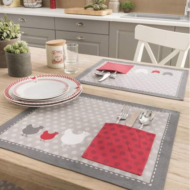 2 Sets de table - Galinette