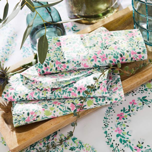 Serviette de table - Herbier champêtre