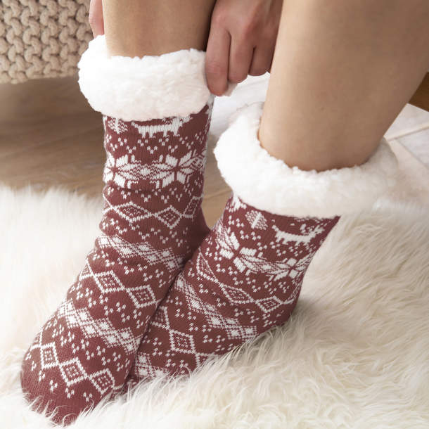 Chaussons chaussettes - Hiver scandinave