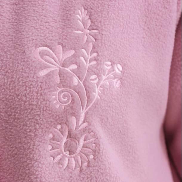 Robe de chambre polaire brodée - Jacinthe