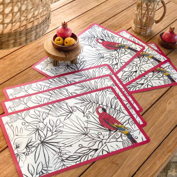 6 Sets de table - Jardin Paradisiaque