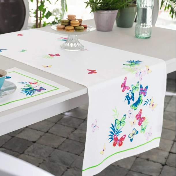 Chemin de table - Jolis papillons