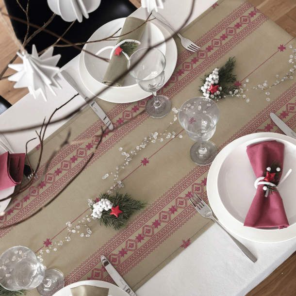 Chemin de table - Jour de Noël