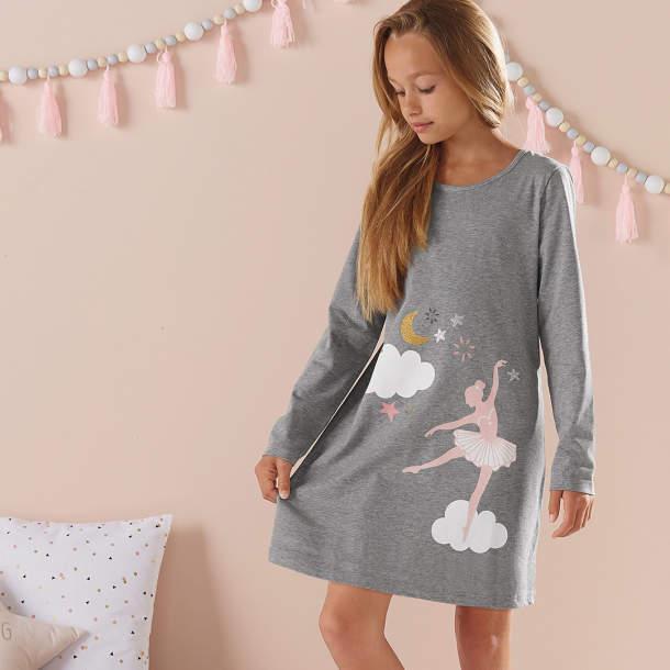 Chemise de nuit fille - Les étoiles de Lola