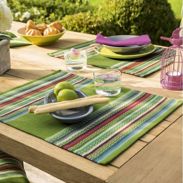 2 Sets de table - Lundi au soleil