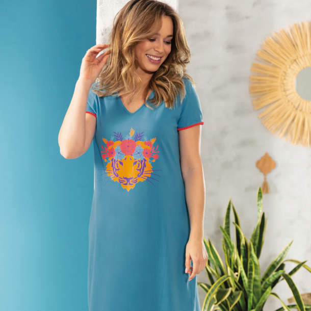 Maxi T-shirt - Luxuriance folk