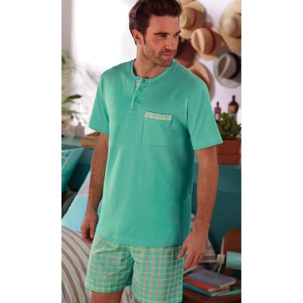 Pyjama court homme - Menthe fraîche