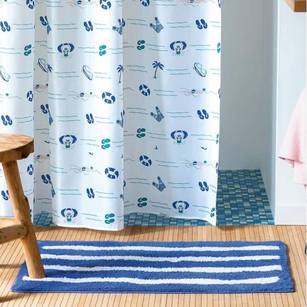 Tapis de bain - Nage Bleue