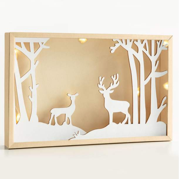 Cadre lumineux - Noël en pleine nature