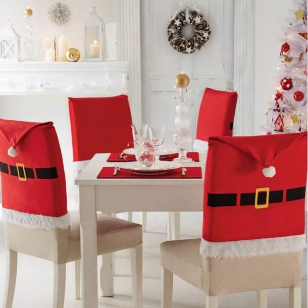 Set de 4 Housses de chaise - Noël