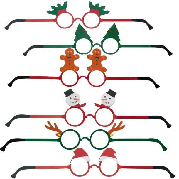 12 Paires de lunettes - Noël traditionnel