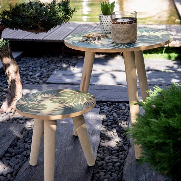 2 Tables - A l\'ombre des palmiers