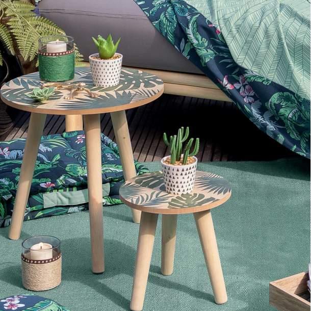 2 Tables - A l\'ombre des palmiers