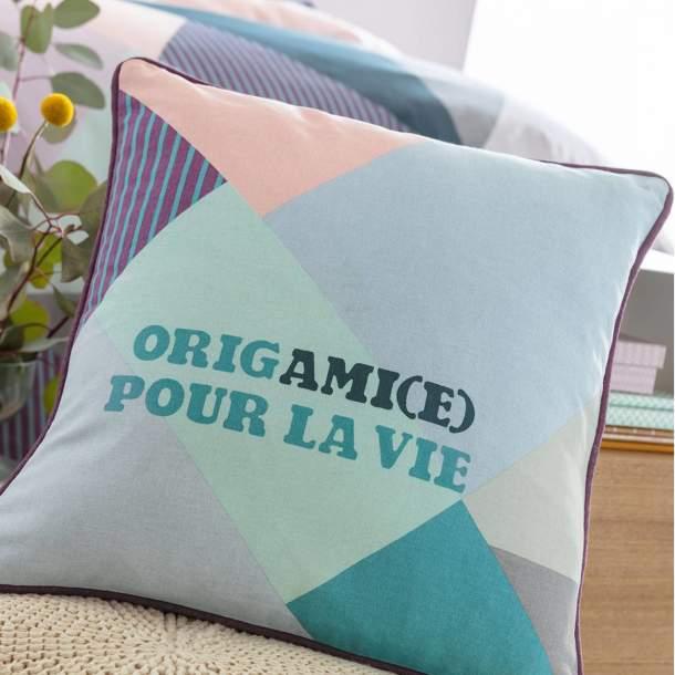 Housse de coussin - Origami(e) pour la vie