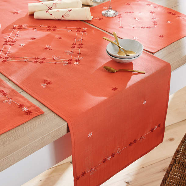 Set de table - Perle et corail