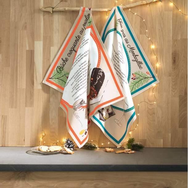 6 Torchons - Recettes de Noël