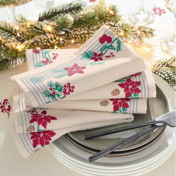 Serviette de table - Roses d\'Hiver