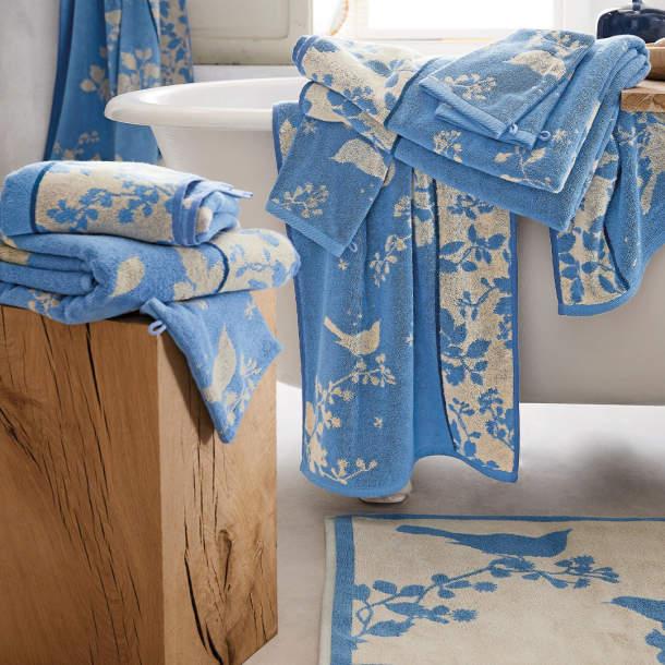 Tapis de bain - Sentiments bleus