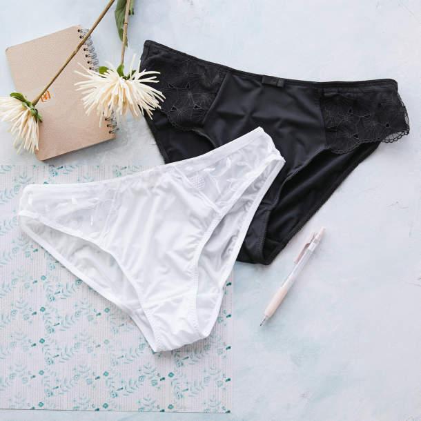 2 Slips Fantaisie Noir et Blanc - Slips Fantaisie Noir et Blanc