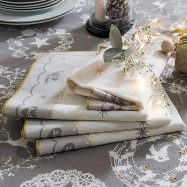 2 Serviettes de table - Tourbillon des fêtes